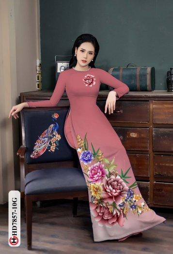 Vải áo dài in hình mẫu đẹp hd 78575