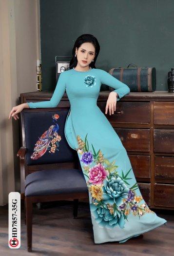 Vải áo dài in hình mẫu đẹp hd 78574