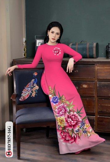 Vải áo dài in hình mẫu đẹp hd 78573