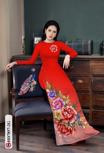 Vải áo dài in hình mẫu đẹp hd 78571