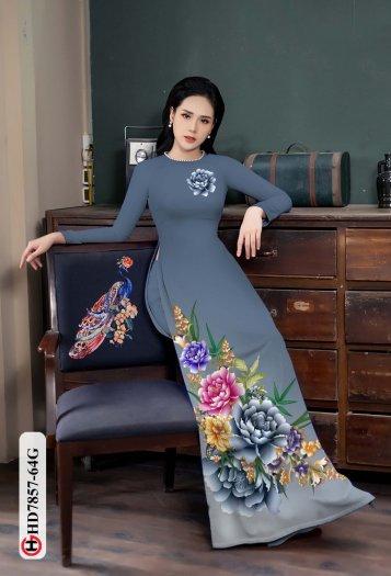 Vải áo dài in hình mẫu đẹp hd 78570