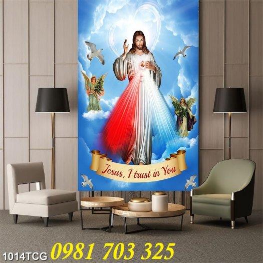 Gạch tranh công giáo, tranh lòng thương xót Chúa3