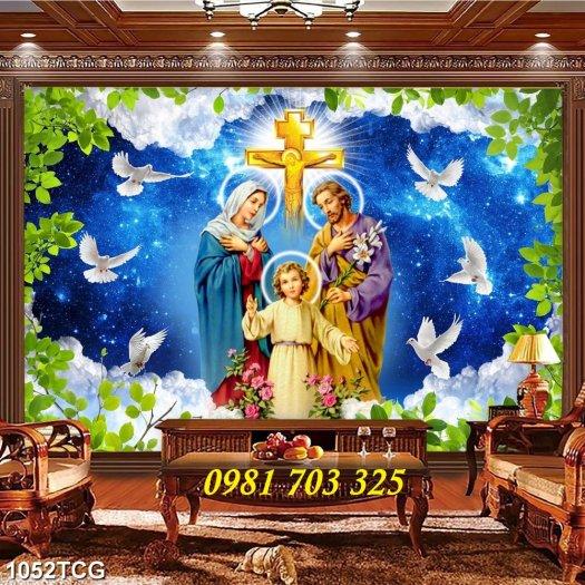 Tranh gạch công giáo, tranh ia đình thánh gia0