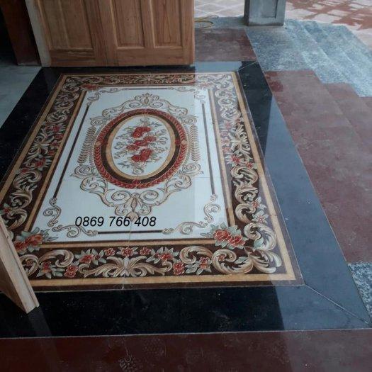 Gạch sàn 3D-gạch thảm lát sàn phòng khách5