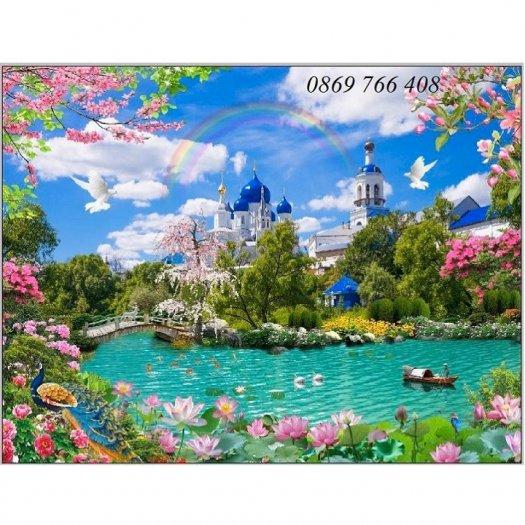Gạch tranh-tranh gạch phong cảnh 3D7