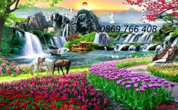 Gạch tranh-tranh gạch phong cảnh 3D0