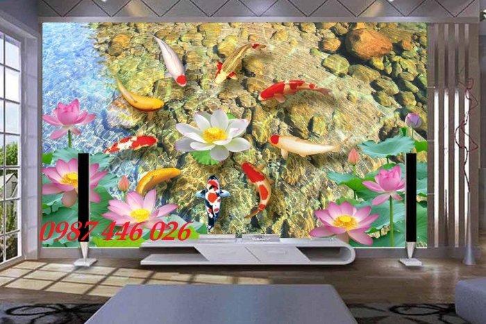 Gạch tranh cá chép 3d HP06928