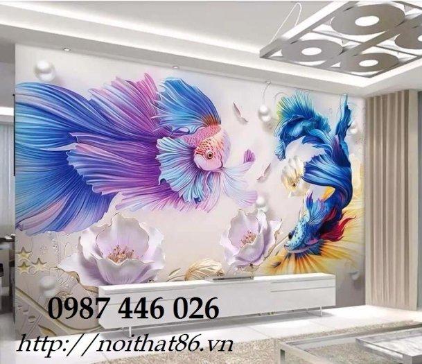 Gạch tranh cá chép 3d HP06926