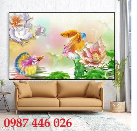 Gạch tranh cá chép 3d HP06920