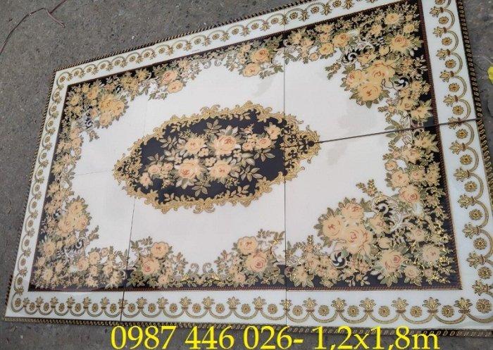 Gạch thảm sàn, gạch trang trí hoa văn phòng khách HP82210