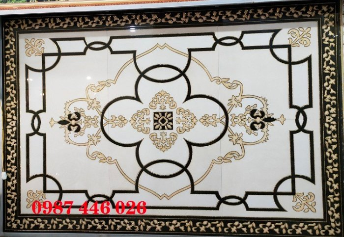 Gạch thảm sàn, gạch trang trí hoa văn phòng khách HP8227