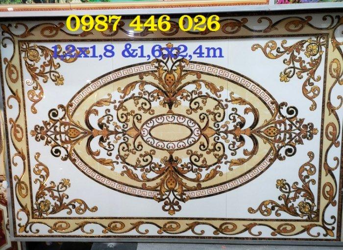 Gạch thảm sàn, gạch trang trí hoa văn phòng khách HP8225