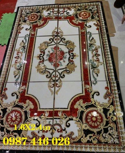 Gạch thảm sàn, gạch trang trí hoa văn phòng khách HP8224