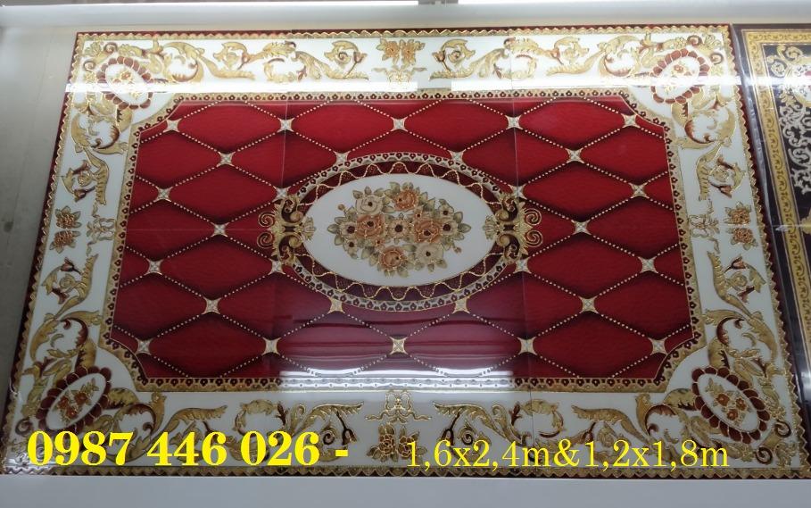Gạch thảm sàn, gạch trang trí hoa văn phòng khách HP8221