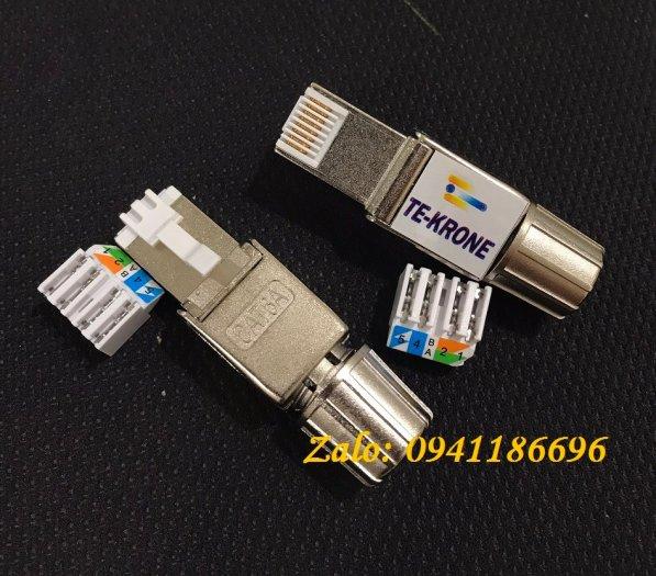 Phân phối hạt mạng cat5, Cat6, Cat3, RJ45, RJ11, đầu bấm hạt mạng Cat6A không dùng tool6