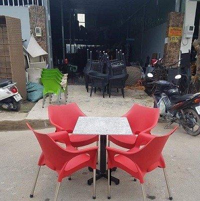 Bàn ghế cafe mây nhựa HGH 12