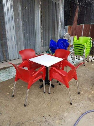 Bàn ghế cafe mây nhựa HGH 11