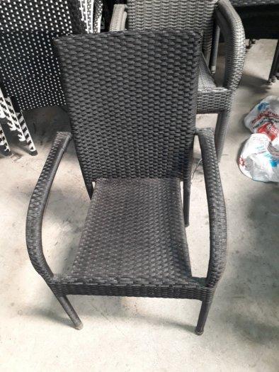 Bàn ghế cafe mây nhựa gia rẻ HGH 30