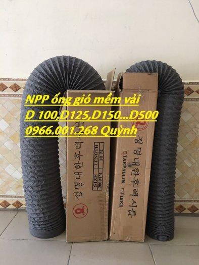 Ống gió mềm vải Tarpaulin Hàn Quốc , ống thông gió số 1 Việt Nam phi 100,phi 125,phi 150,phi 200,phi 3008