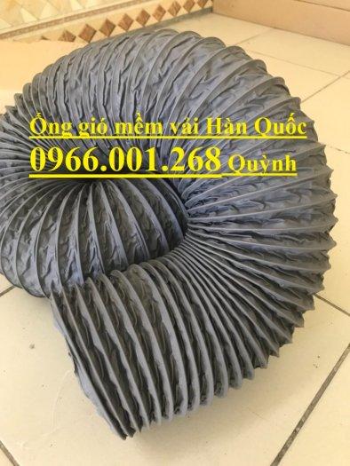 Ống gió mềm vải Tarpaulin Hàn Quốc , ống thông gió số 1 Việt Nam phi 100,phi 125,phi 150,phi 200,phi 3007
