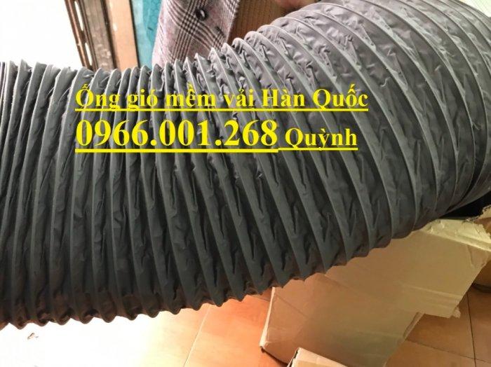 Ống gió mềm vải Tarpaulin Hàn Quốc , ống thông gió số 1 Việt Nam phi 100,phi 125,phi 150,phi 200,phi 3005