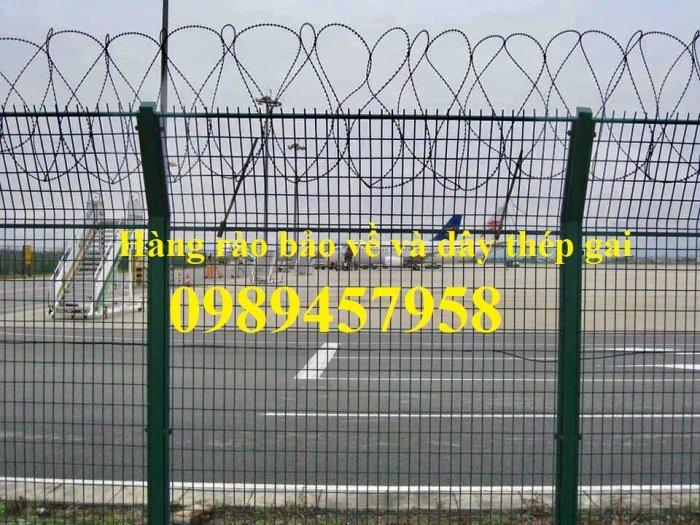 Nhận thi công lắp đặt hàng rào thép gai tận chân công trình1
