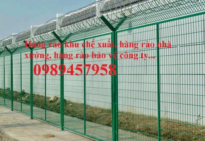 Nhận thi công lắp đặt hàng rào thép gai tận chân công trình0