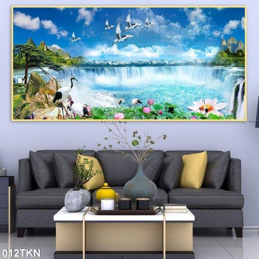Tranh gạch men phong cảnh, tranh sơn thủy hữu tình6