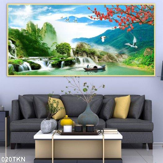 Tranh gạch men phong cảnh, tranh sơn thủy hữu tình5