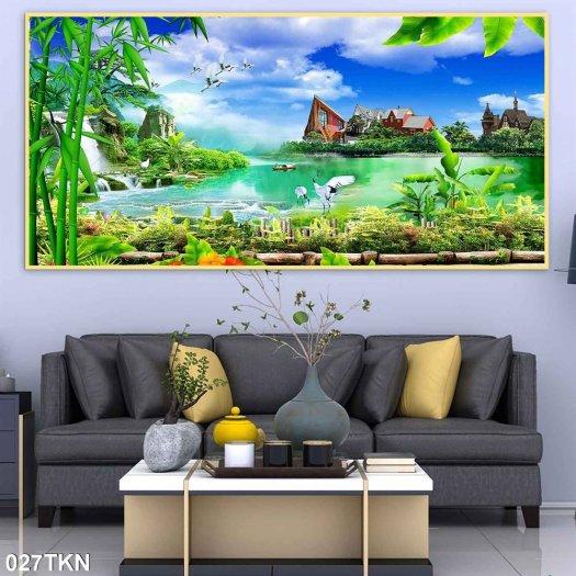 Tranh gạch men phong cảnh, tranh sơn thủy hữu tình4