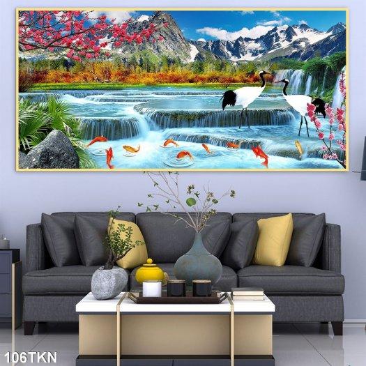 Tranh gạch men phong cảnh, tranh sơn thủy hữu tình2