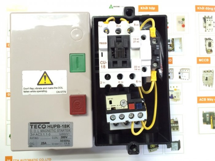 Contactor hộp HUEB-11 TECO , hoạt động bền bỉ, giá thành tốt...1