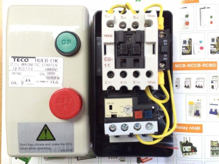 Contactor hộp HUEB-11 TECO , hoạt động bền bỉ, giá thành tốt...0