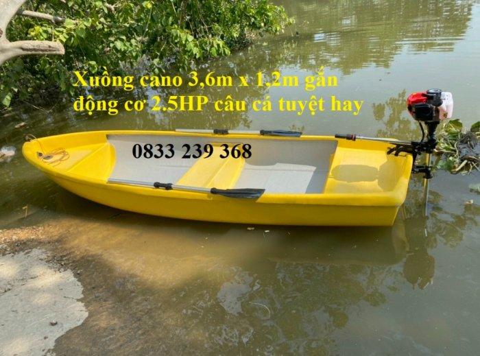 Thuyền nhựa câu cá cho 2-3 người, xuồng composite chở 4-6 người gắn động cơ, Áo phao cứu sinh5