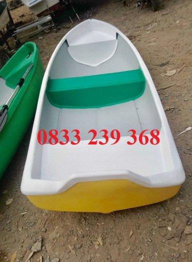 Thuyền nhựa câu cá cho 2-3 người, xuồng composite chở 4-6 người gắn động cơ, Áo phao cứu sinh2