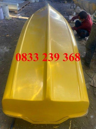 Thuyền nhựa câu cá cho 2-3 người, xuồng composite chở 4-6 người gắn động cơ, Áo phao cứu sinh0