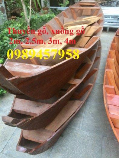 Thuyền trang trí hoa tết 2m, 3m, 4m, mua Xuồng gỗ trang trí 3m3