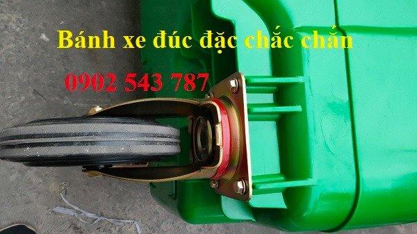 Xe đảy rác công cộng 660 lít nhựa HDPE0