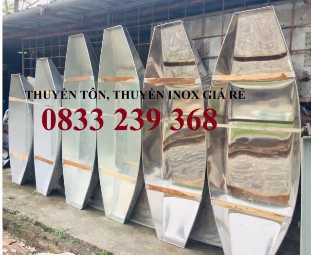 Chuyên thuyền tôn 3m, 2,5m, Thuyền inox có sẵn tại Hà Nội2