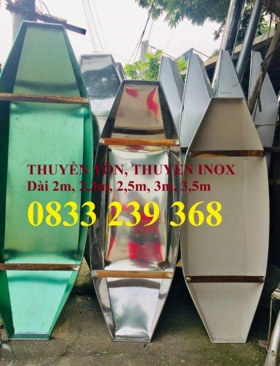 Chuyên thuyền tôn 3m, 2,5m, Thuyền inox có sẵn tại Hà Nội1
