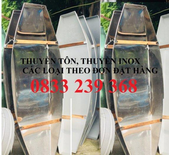 Chuyên thuyền tôn 3m, 2,5m, Thuyền inox có sẵn tại Hà Nội0