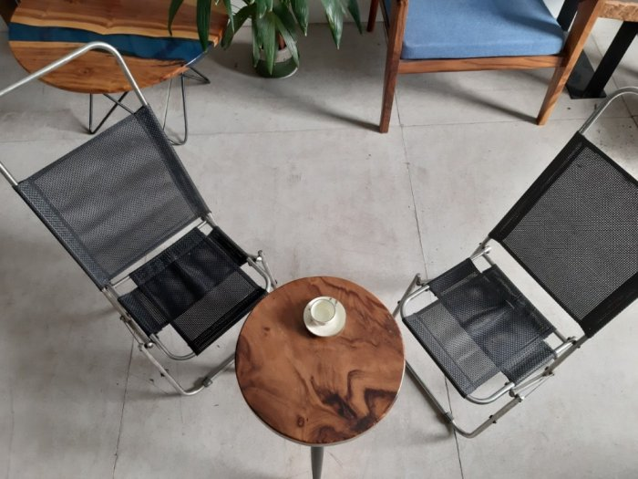 Bàn cafe gỗ đường kính 40cm8