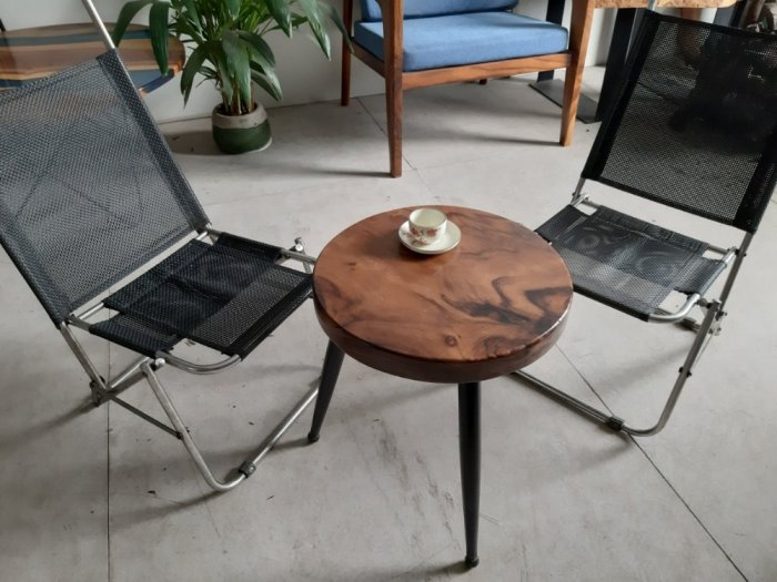Bàn cafe gỗ đường kính 40cm7