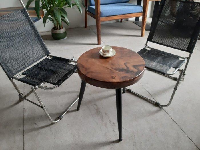Bàn cafe gỗ đường kính 40cm6