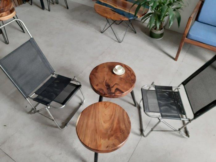 Bàn cafe gỗ đường kính 40cm5