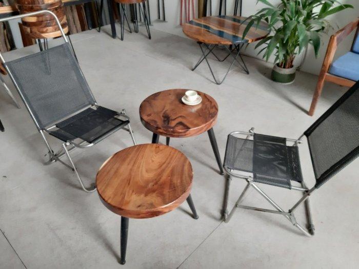 Bàn cafe gỗ đường kính 40cm4