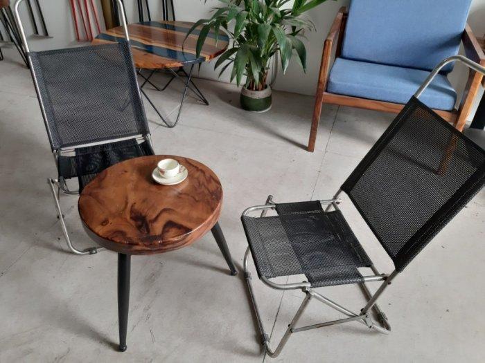Bàn cafe gỗ đường kính 40cm3