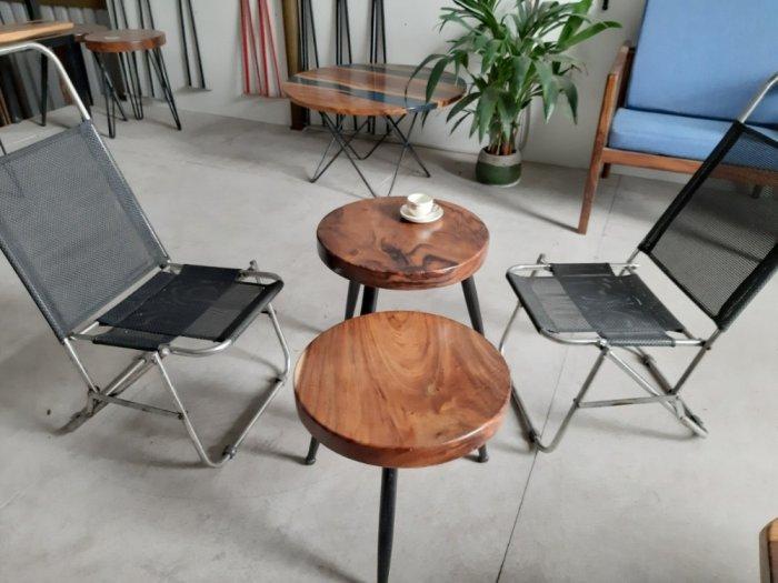 Bàn cafe gỗ đường kính 40cm2