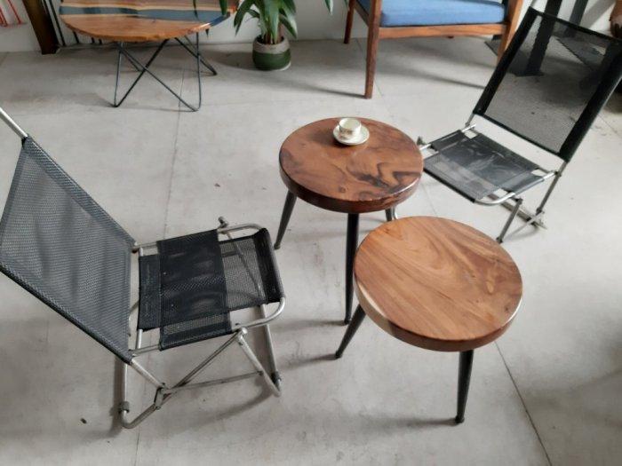 Bàn cafe gỗ đường kính 40cm1