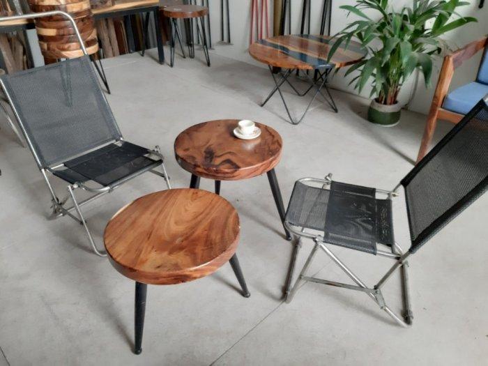 Bàn cafe gỗ đường kính 40cm0
